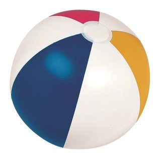 "24"" Classic Inflatable 6-Panel Beach Ball Swimming Pool Toy"