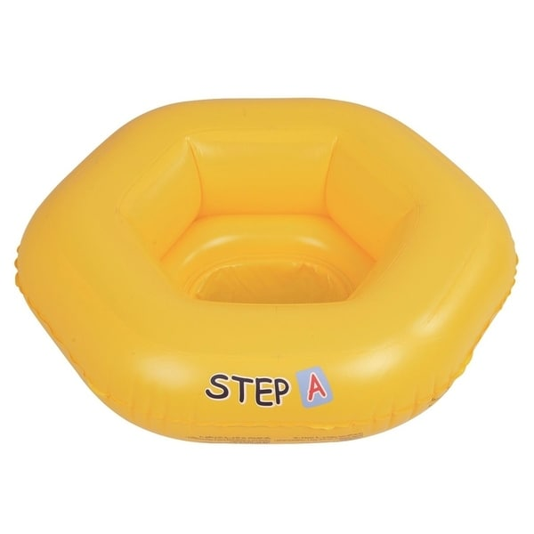 """26"""" Yellow Swim """"Step A"""" Inflatable Swimming Pool Baby Seat Float for Babies 0-1 Years"""