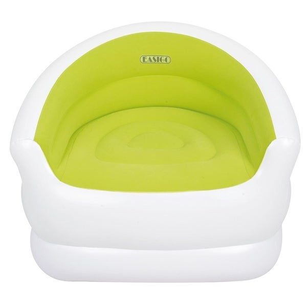 """37"""" White and Green Color-Splash Indoor/Outdoor Inflatable Lounge Chair"""