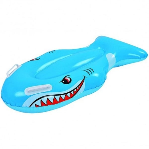 """39"""" Blue and White Children's Inflatable Shark Kick Board"""