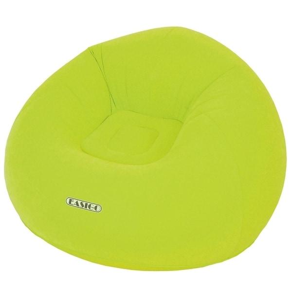 "41"" Round Lime Green ""Easigo"" Inflatable Single Person Sofa"