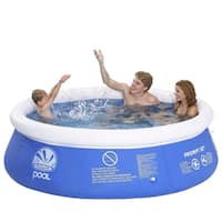 """8' x 25"""" Blue and White Inflatable Above Ground Prompt Set Swimming Pool"""