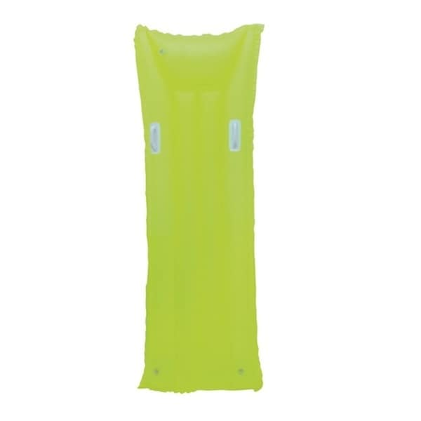 """72"""" Neon Yellow Inflatable Air Mattress Swimming Pool Raft Float with Handles"""