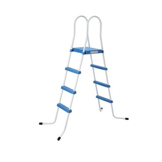 "72.4"" Three Step Above Ground Swimming Pool Ladder with Platform"