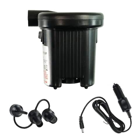 Battery Operated Indoor/Outdoor Air Pump for Large Volume Inflatables - Black