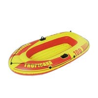 "72"" Red and Yellow ""Tropicana 100"" Inflatable Single Person Boat"
