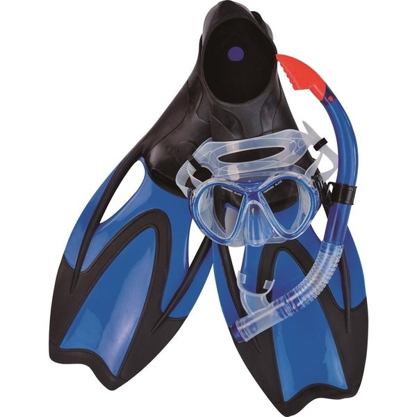 Blue Zray Teen/Young Adult Pro Scuba or Snorkeling Swimming Pool Set - Medium