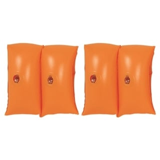Set of 2 Orange Inflatable Swimming Pool Arm Floats for Kids 3-6 Years