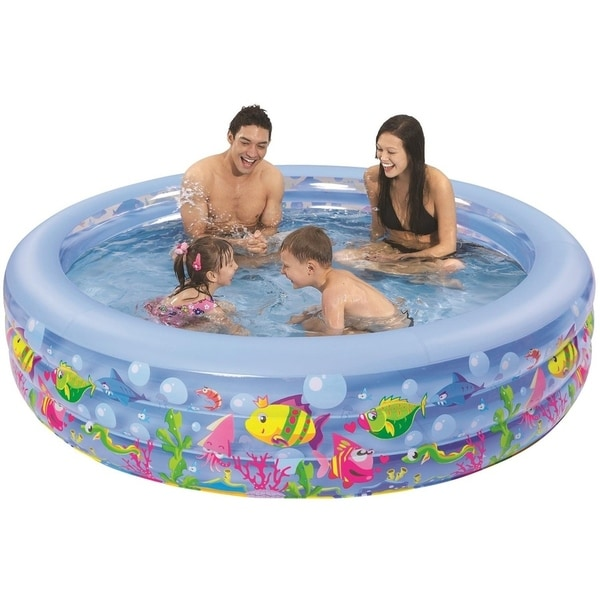 "73"" Round Sea Life Themed Inflatable Children's Swimming Pool"