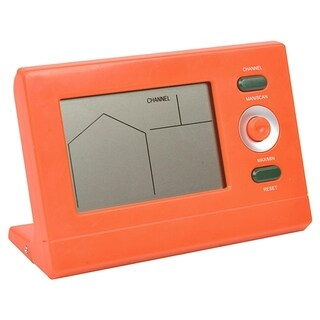 Orange Wireless Digital Swimming Pool Thermometer with Receiver Station