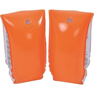 Set of 2 Orange Inflatable Swimming Pool Arm Floats for Kids 6-12 Years