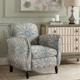 Madison Park Valeria Blue Multi/ Brown Accent Chair