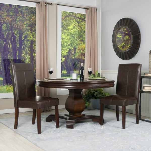 Shop Set Of Two Faux Leather Parsons Chairs