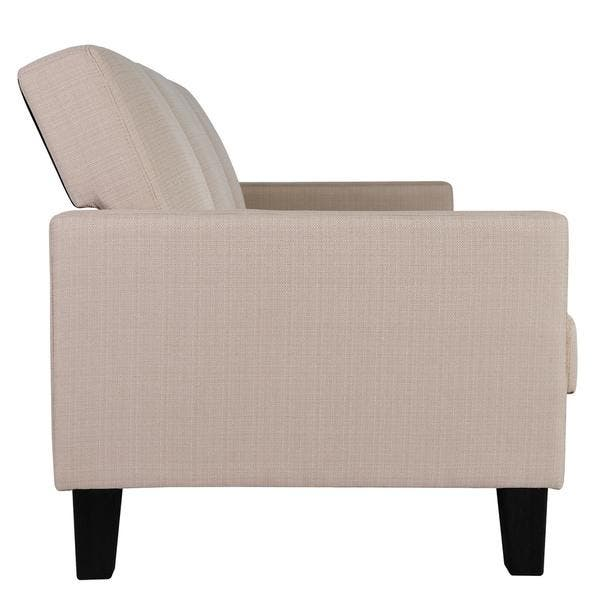 Brilliant Shop Dhp Vienna Tan Linen Sofa Sleeper With Pillows Free Short Links Chair Design For Home Short Linksinfo