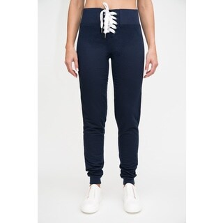 High-Waisted Terry Jogger