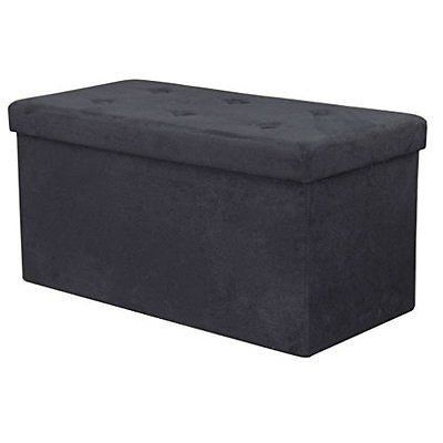 Shop Sorbus Storage Bench Chest Contemporary Faux Suede