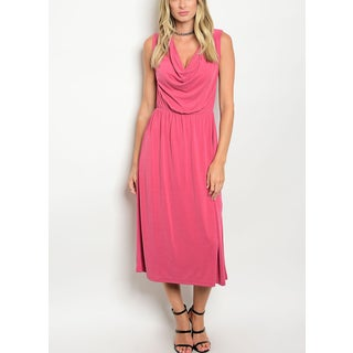 JED Women's Sleeveless Cowl Neck Midi Dress