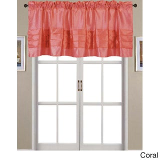 RT Designers Collection Nancy Faux Silk 54 x 18 in. Pleated Rod Pocket Valance