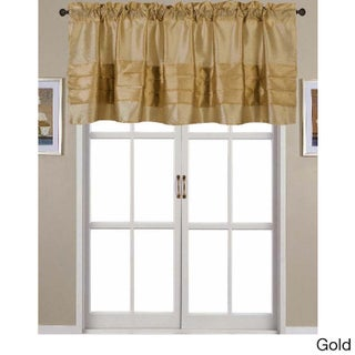 RT Designers Collection Nancy Faux Silk 54 x 18 in. Pleated Rod Pocket Valance (Option: Gold)