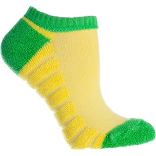 Minx Performance: 3 Pair Pack Reverse Terry-Anklet Socks- Yellow , Womens-One Size Fits Most (Sizes: 6-10) - Womens