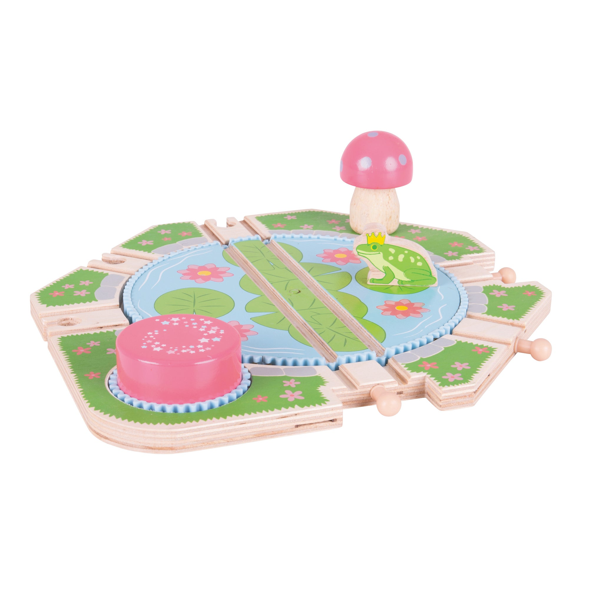 Bigjigs Toys Lilypad Turntable Wooden Train Accessory (1)