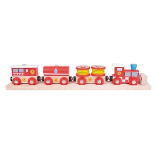 Bigjigs Toys Wooden Fire and Rescue Train