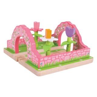 Bigjigs Toys Flower Garden Wooden Train Accessory