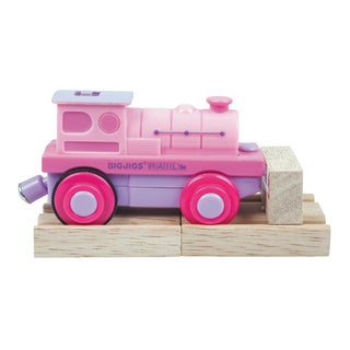 Bigjigs Toys Pink Battery Operated Steam Engine