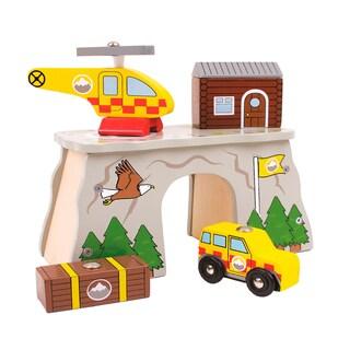 Bigjigs Toys Mountain Rescue Wooden Train Accessory