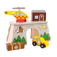 Bigjigs Toys Mountain Rescue Wooden Train Accessory