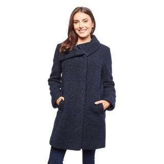 Cole Haan Women's Pebbly Wool Coat