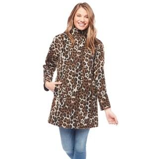 Ellen Tracy Women's Leopard Wool Kimono