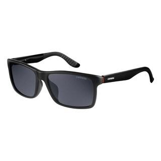 Carrera Men's Black/Grey Plastic Polarized Lens Sunglasses