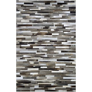 Couristan Chalet Tether/Naturals Cowhide Leather Area Rug - 3'4 x 5'4