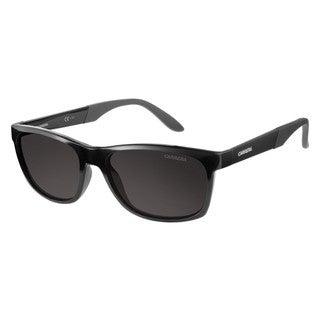 Carrera Men's Black Plastic Frame Grey Polarized Lens Sunglasses