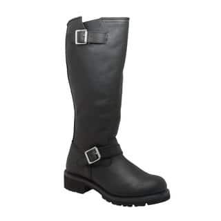 "Men's 16"" Engineer Biker Boot Black|https://ak1.ostkcdn.com/images/products/16816846/P23119530.jpg?impolicy=medium"