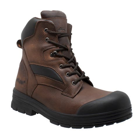 Mens 8 inch Composite Toe Waterproof Work Boot Brown