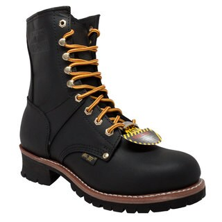 "Men's 9"" Steel Toe Logger Black"