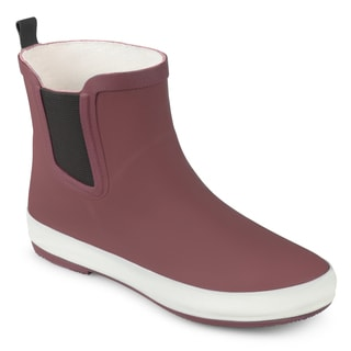 Journee Collection Women's 'Siffy' Sporty Solid Color Rubber Rainboots