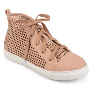 Journee Collection Women's 'Nycole' Laser-cut High-top Sneakers (Option: 12)