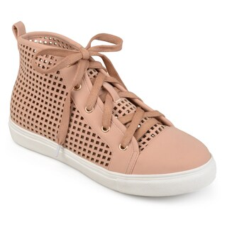 Journee Collection Women's 'Nycole' Laser-cut High-top Sneakers (More options available)