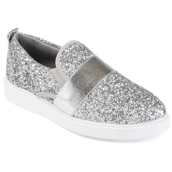 dc6e1aa6045 Shop Journee Collection Women's 'Luster' Glitter Slip-on Sneakers ...