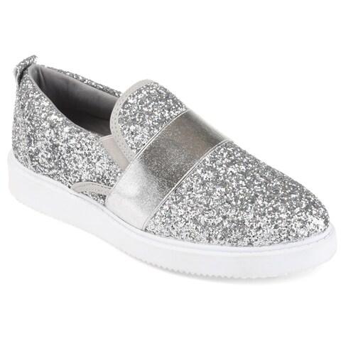 Journee Collection Women's 'Luster' Glitter Slip-on Sneakers
