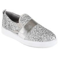 Journee Collection Women's 'Luster' Glitter Slip-on Sneakers