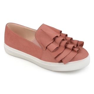 Journee Collection Women's 'Glint' Ruffle Slip-on Sneakers