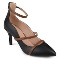 Journee Collection Women's 'Cece' Ankle Strap Pointed Toe Heels