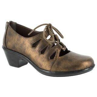 Easy Street Women's Gildy Ghillie Tie Casual (Bronze Metallic Wash)