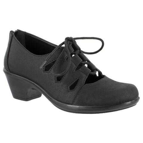 Easy Street Womens Gildy Ghillie Tie Casual (Black)
