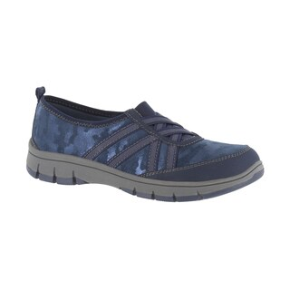 "Easy Street Women's Sport ""Kila"" Athleisure Slip On (Navy Shimmer) (More options available)"