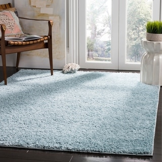 Safavieh New York Shag Geometric Blue Area Rug (8' x 10')